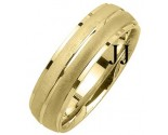 Yellow Gold Designer Wedding Band 6mm YG-1191