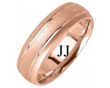 Rose Gold Designer Wedding Band 6.5mm RG-1192