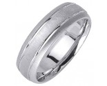 White Gold Designer Wedding Band 6.5mm WG-1192