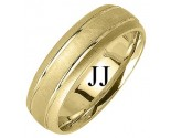 Yellow Gold Designer Wedding Band 6.5mm YG-1192