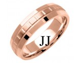 Rose Gold Designer Wedding Band 6mm RG-1193