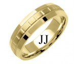 Yellow Gold Designer Wedding Band 6mm YG-1193