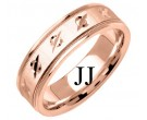 Rose Gold Designer Wedding Band 6.5mm RG-1194