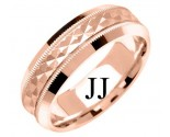 Rose Gold Designer Wedding Band 7mm RG-1195