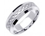 White Gold Designer Wedding Band 7mm WG-1195