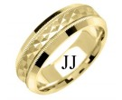 Yellow Gold Designer Wedding Band 7mm YG-1195