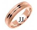 Rose Gold Designer Wedding Band 6mm RG-1196