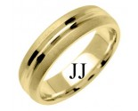 Yellow Gold Designer Wedding Band 6mm YG-1196