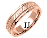 Rose Gold Designer Wedding Band 6mm RG-1197
