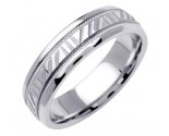 White Gold Designer Wedding Band 6mm WG-1197