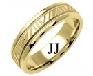 Yellow Gold Designer Wedding Band 6mm YG-1197