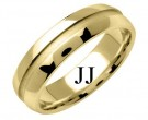Yellow Gold Designer Wedding Band 6mm YG-1199