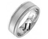 White Gold Sandblasted Wedding Band 7mm WG-1251