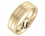 Yellow Gold Dual Blade Wedding Band 7.5mm YG-1252
