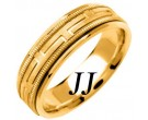 Yellow Gold Greek Key Wedding Band 6.5mm YG-1256