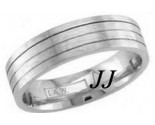 White Gold Quad Blade Wedding Band 5mm WG-1258