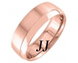 Rose Gold Two Face Wedding Band 7mm RG-1259