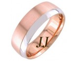 Two Tone Gold Two Face Wedding Band 7mm TT-1259A