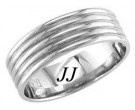White Gold Polished Wedding Band 7mm WG-1260
