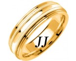 Yellow Gold Milgrain Wedding Band 6.5mm YG-1262