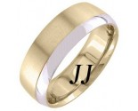 Two Tone Gold Two Face Wedding Band 7mm TT-1259B