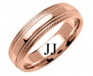 Rose Gold Designer Wedding Band 6mm RG-1270