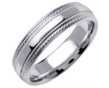 White Gold Designer Wedding Band 6mm WG-1270