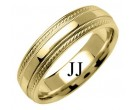 Yellow Gold Designer Wedding Band 6mm YG-1270