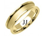 Yellow Gold Designer Wedding Band 6mm YG-1271