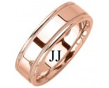 Rose Gold Designer Wedding Band 6.5mm RG-1273