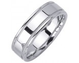White Gold Designer Wedding Band 6.5mm WG-1273