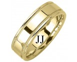 Yellow Gold Designer Wedding Band 6.5mm YG-1273