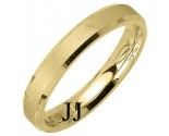 Yellow Gold Sandblasted Wedding Band 4mm YG-1274