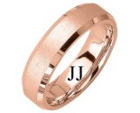 Rose Gold Sandblasted Wedding Band 6mm RG-1275