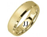 Yellow Gold Sandblasted Wedding Band 6mm YG-1275