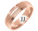 Rose Gold Designer Wedding Band 6mm RG-1276