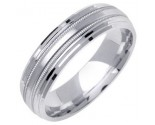 White Gold Designer Wedding Band 6mm WG-1276