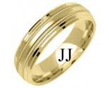 Yellow Gold Designer Wedding Band 6mm YG-1276