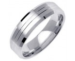 White Gold Designer Wedding Band 6mm WG-1277