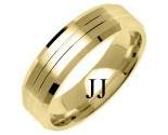 Yellow Gold Designer Wedding Band 6mm YG-1277