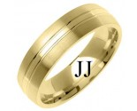 Yellow Gold Designer Wedding Band 6mm YG-1279