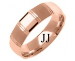 Rose Gold Designer Wedding Band 6mm RG-1280