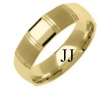 Yellow Gold Designer Wedding Band 6mm YG-1280