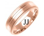 Rose Gold Designer Wedding Band 6mm RG-1281