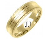 Yellow Gold Designer Wedding Band 6mm YG-1281