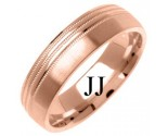 Rose Gold Designer Wedding Band 6mm RG-1282