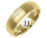 Yellow Gold Designer Wedding Band 6mm YG-1282