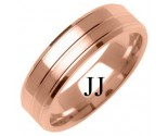 Rose Gold Designer Wedding Band 6mm RG-1283