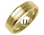 Yellow Gold Designer Wedding Band 6mm YG-1283