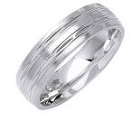 White Gold Designer Wedding Band 6mm WG-1284